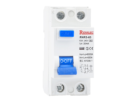 Residual Current Circuit Breaker<br/>(RCCB/RCD)<br/>RNR3-63